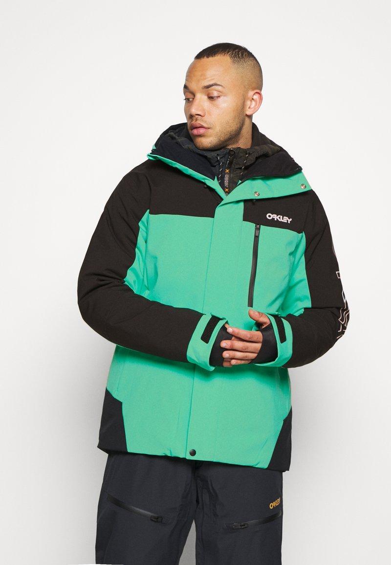 Oakley - Snowboard jacket - black/mint