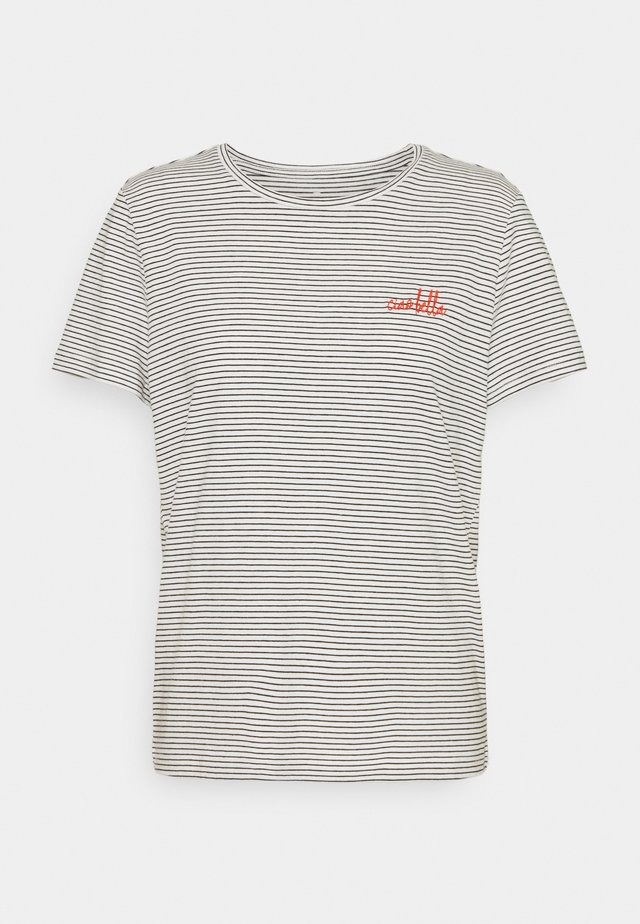STRIPED - T-shirt print - offwhite