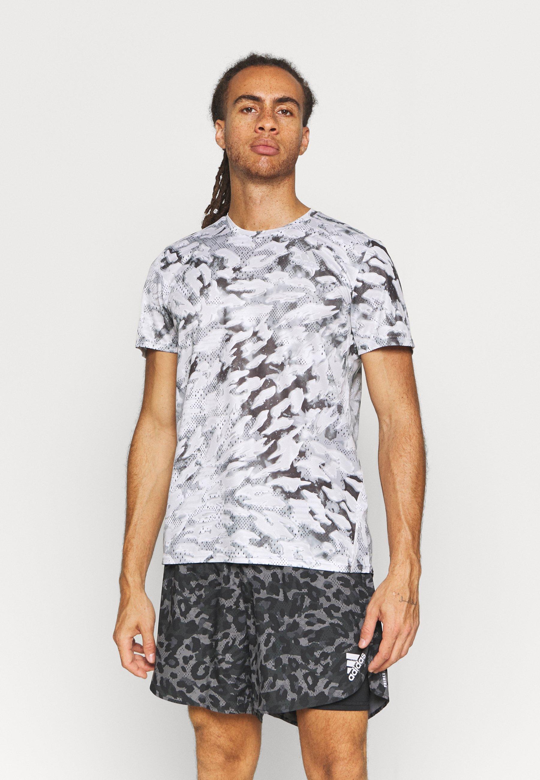 Homme FAST ALL OVER SUPERNOVA AEROREADY - T-shirt imprimé