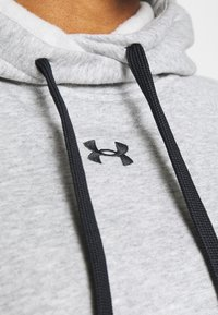 Under Armour - RIVAL HOODIE - Mikina s kapucí - steel medium heather - 5
