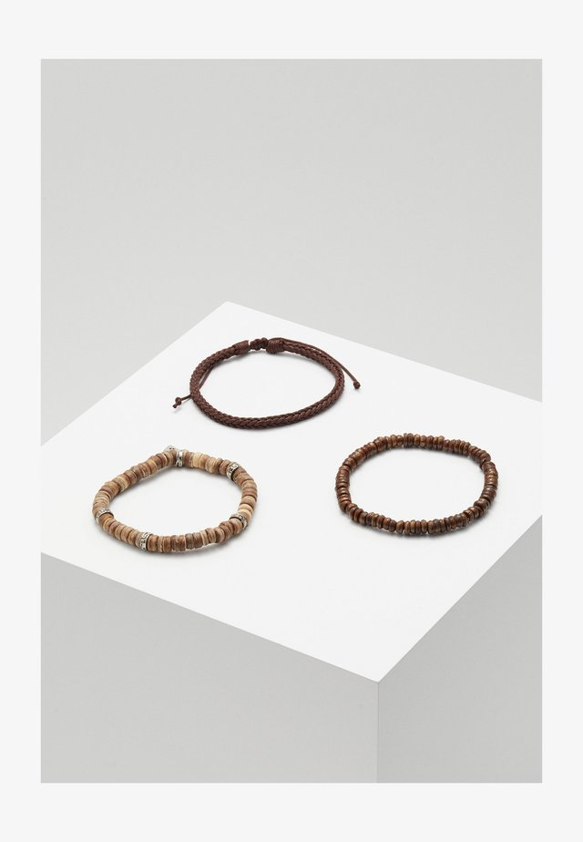 TABANAN COMBO 3 PACK - Bracciale - brown