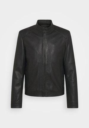 LONOS - Kožená bunda - black
