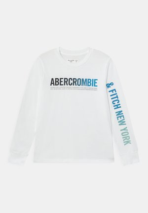LOGO - Long sleeved top - white