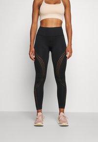 Calvin Klein Performance - SEAMLESS 7/8  - Leggings - black - 0