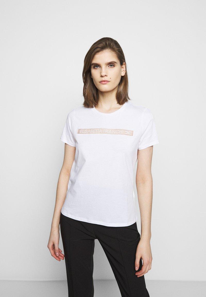 Elisabetta Franchi - T-shirts med print - gesso