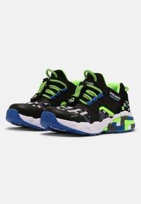 Skechers - MEGA-CRAFT - Trainers - black/blue/lime - 1