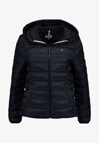 Tommy Jeans - QUILTED ZIP THRU - Light jacket - black - 4
