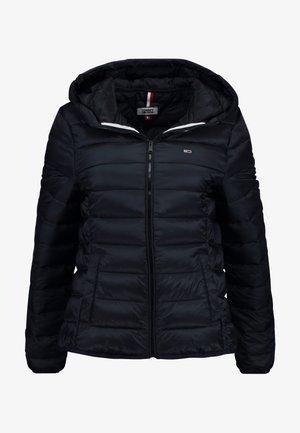QUILTED ZIP THRU - Light jacket - black