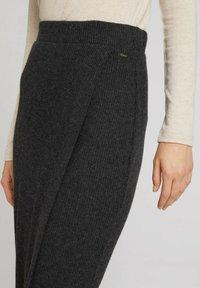 TOM TAILOR DENIM - Wrap skirt - mottled grey - 5