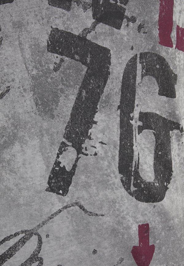 Key Largo OUTCOME BUTTON - T-shirt z nadrukiem - anthra/antracytowy Odzież Męska QEWS