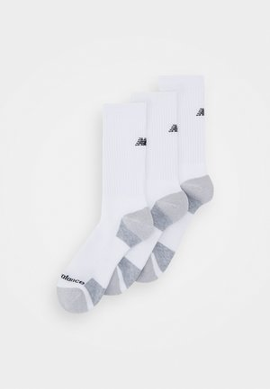 MENS CREW 3 PACK UNISEX - Sports socks - white