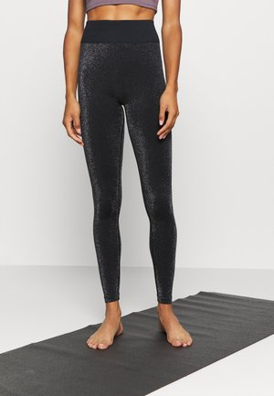 HIGH WAISTED SEAMLESS LEGGING - Medias - black