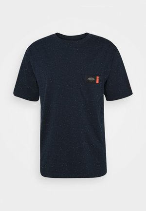 NEPS CREWNECK TEE WITH CHESTPOCKET - T-shirt - bas - navy melange