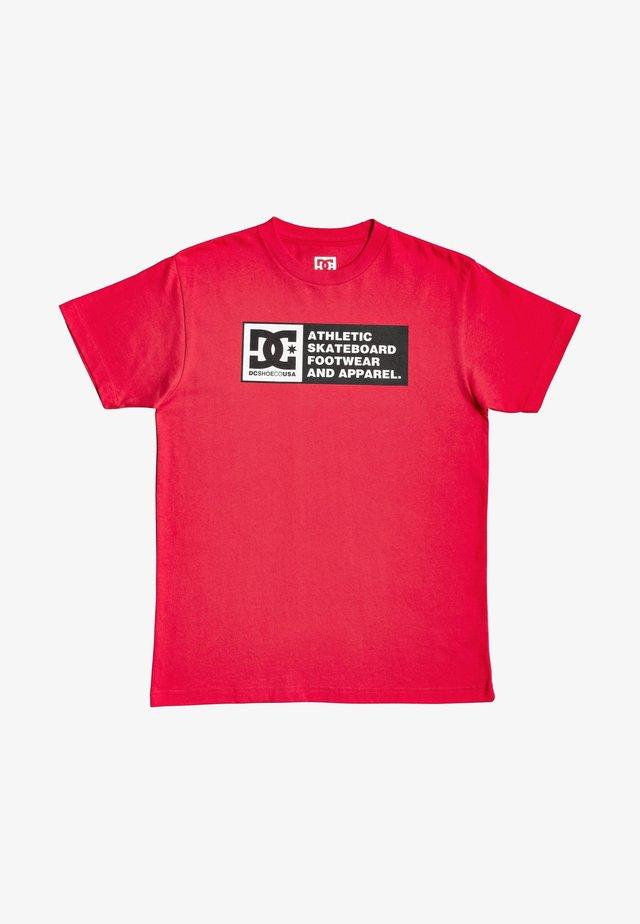 T-shirt imprimé - racing red