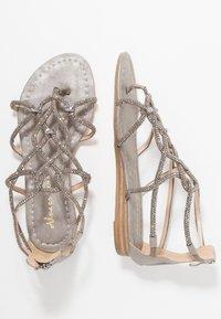 Alma en Pena - T-bar sandals - oporto pewter - 3