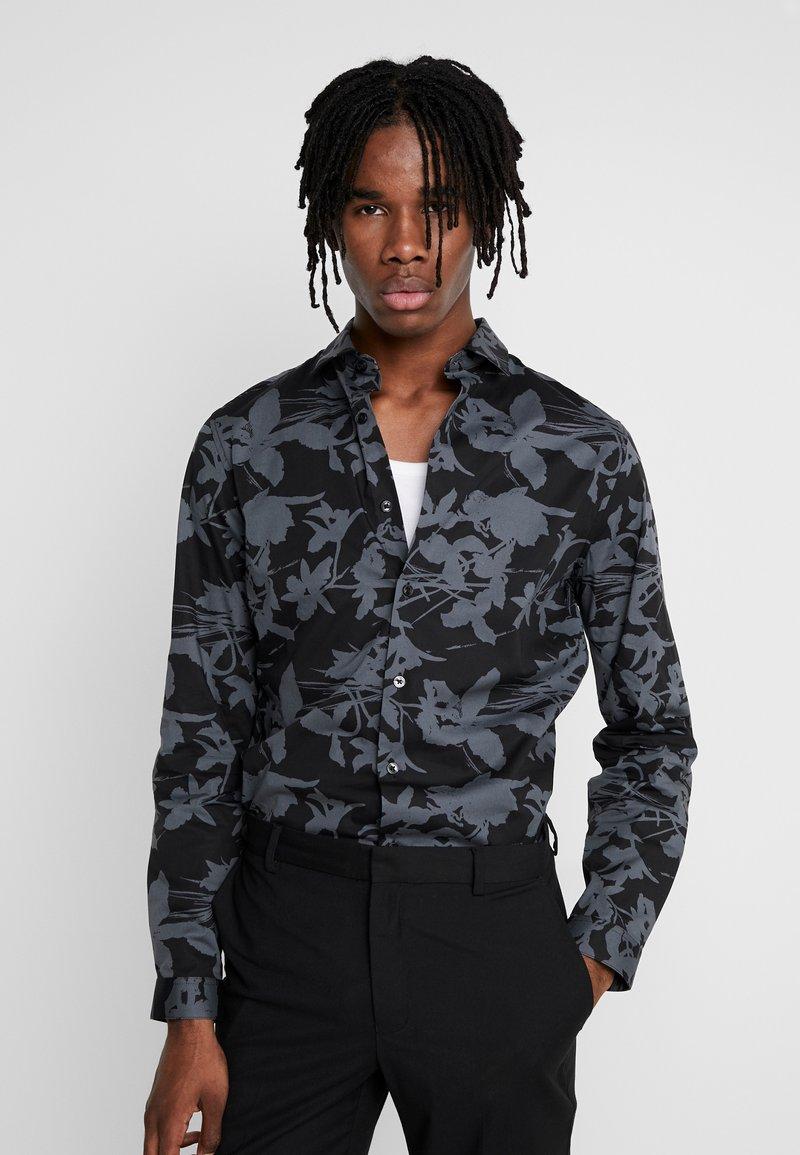 Topman - SHADOW FLORAL - Skjorta - grey