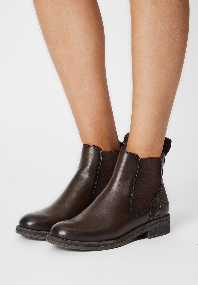 Tamaris - Kotníková obuv - mocca