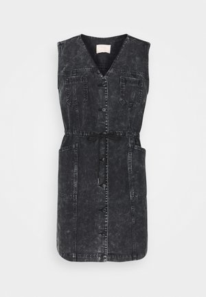 EMMA DRESS - Denim dress - black