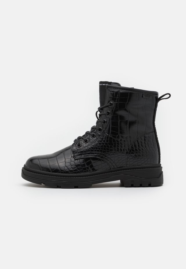 FIX - Lace-up ankle boots - black