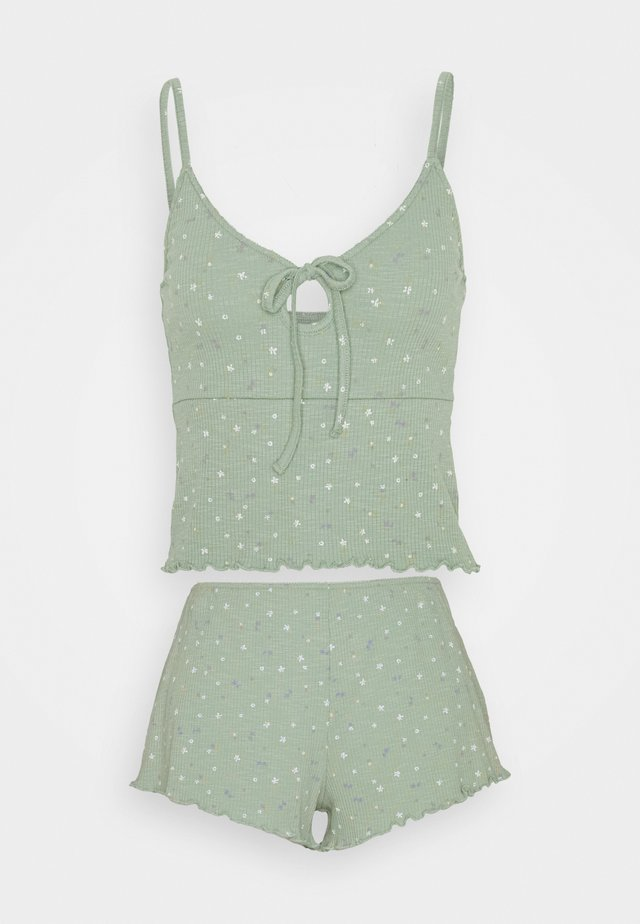 PRETTY LITTLE SLEEP TANK AND BED SHORT SET - Yöasusetti - washed mint