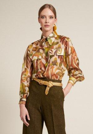 BASSEN - Button-down blouse - verde