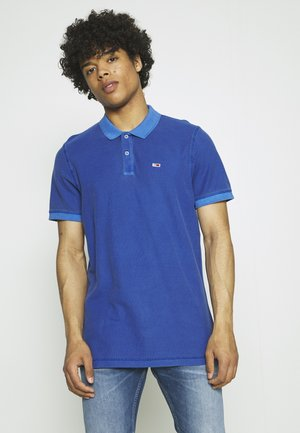 GARMENT DYE - Polo shirt - blue