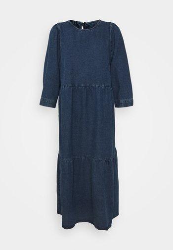 NMJESSIE DRESS - Maxi dress - medium blue denim