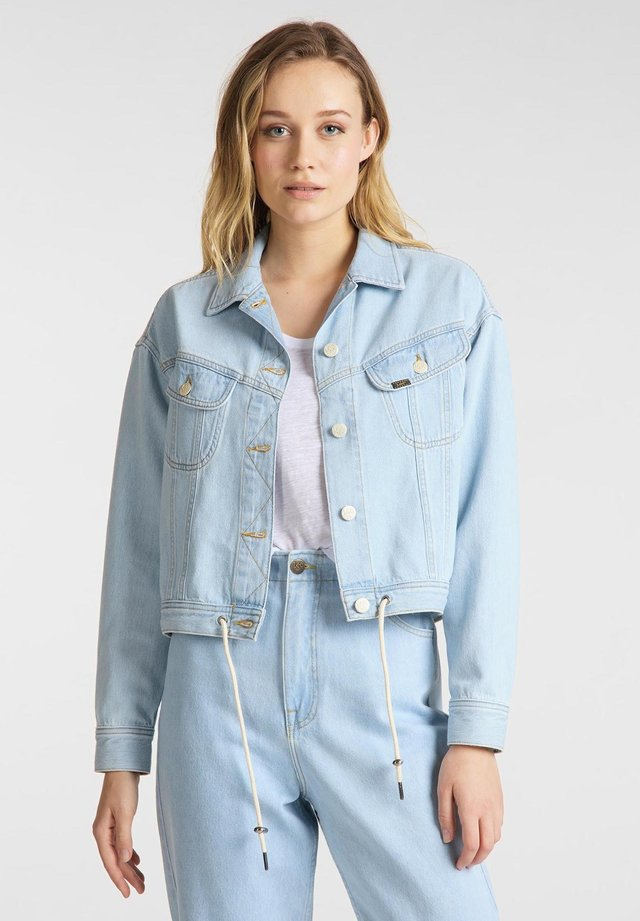 RIDER DRAWSTRING JKT - Denim jacket - bleached ore