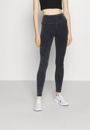 ACID WASH FASHION - Leggingsit - mottled dark grey
