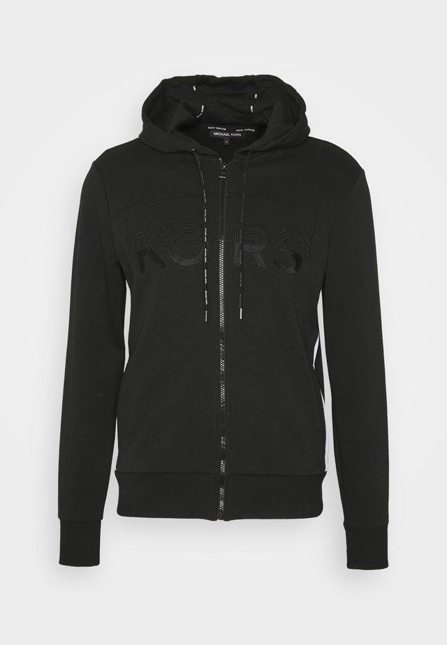 KI HOODIE - veste en sweat zippée - black