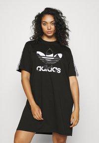 adidas Originals - TEE DRESS - Vestido ligero - black - 0
