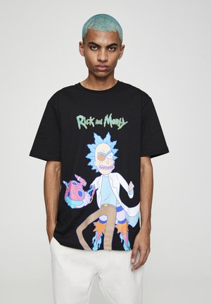 RICK & MORTY - Print T-shirt - mottled dark grey
