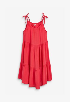 TIERED  - Day dress - coral