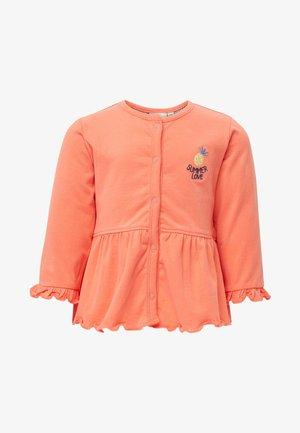 MIT SCHÖSSCHEN - Zip-up sweatshirt - peach echo/pink