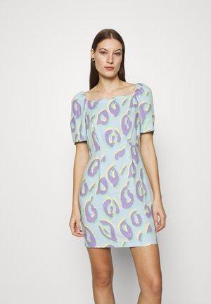 SQUARE NECK MINI DRESS - Shift dress - aqua