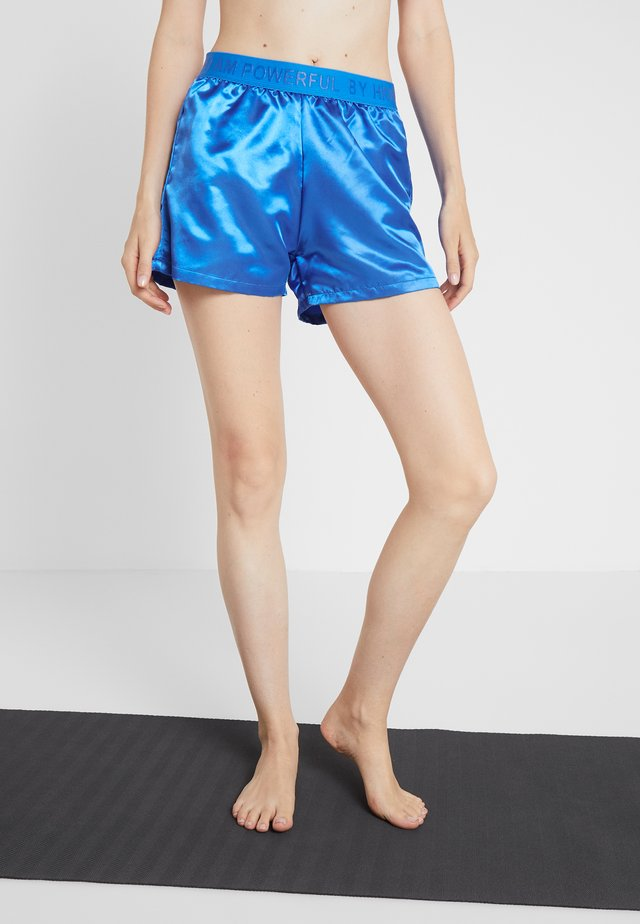 PANTS SILK  - Sports shorts - blue