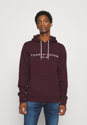 LOGO HOODY - Sweat à capuche - deep burgundy