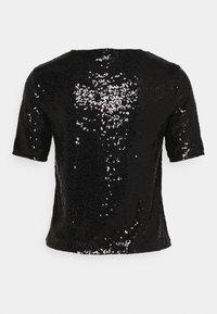 ONLY - ONLZALINA GLITTER - Print T-shirt - black - 1