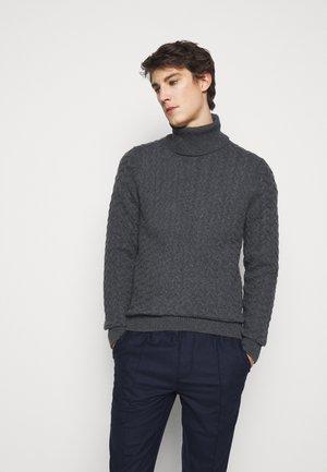 CABLE TURTLE - Pullover - ash melange