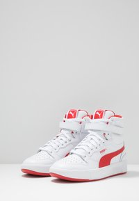 Puma - SKY LX MID - Sneakers hoog - white/high risk red - 2