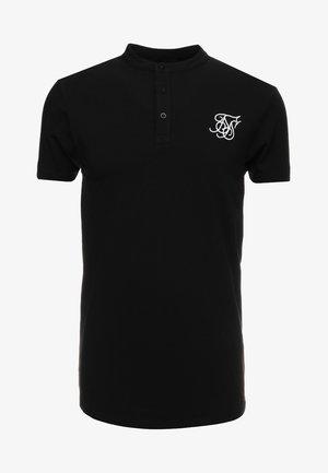 GRANDAD COLLAR - Jednoduché triko - black