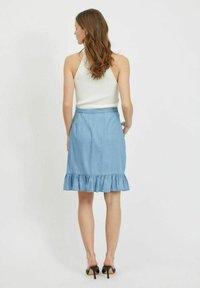 Vila - A-snit nederdel/ A-formede nederdele - light blue denim - 2