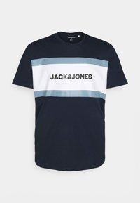 Jack & Jones - JJSHAKE TEE CREW NECK - Print T-shirt - navy blazer - 0