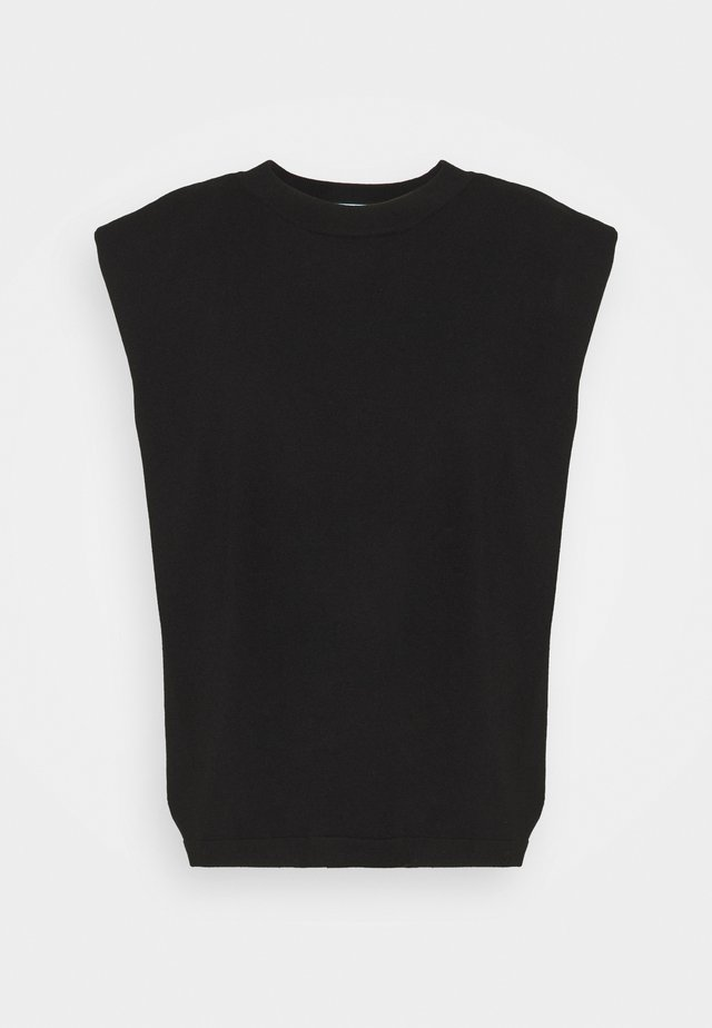 MANDY MUSCLE TEE - Jednoduché triko - black
