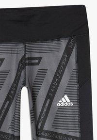 adidas Performance - Collant - grey six/black/white - 4