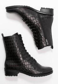 Caprice - BOOTS - Šněrovací kotníkové boty - black - 3
