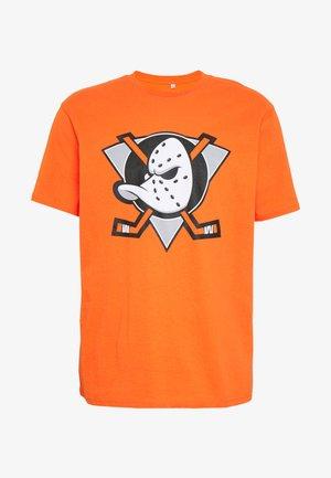 NHL ANAHEIM DUCKS ICONIC SECONDARY COLOUR LOGO GRAPHIC - Vereinsmannschaften - orange