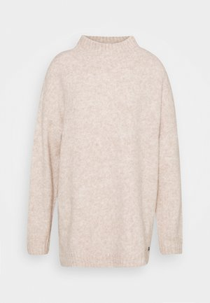 MOCK NECK LONG - Jumper - cozy beige melange