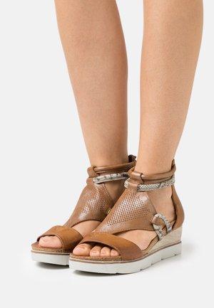 TAPASITA - Platform sandals - sella/roccia