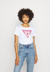Guess - ICON  - T-shirt imprimé - true white - 0